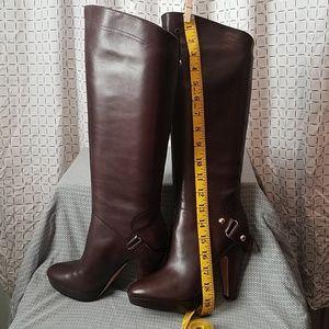 Boutique 9 Dark Brown Boots w/ Brass Accent Sz. 7M